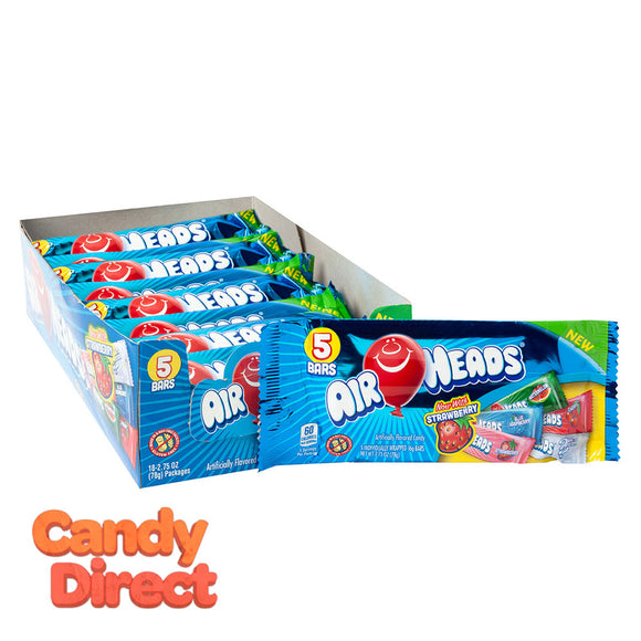 Airheads Assorted 5-Piece 2.75oz - 18ct