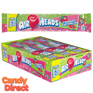 Airheads Candy 2-in-1 Big Bars Strawberry & Watermelon - 24ct