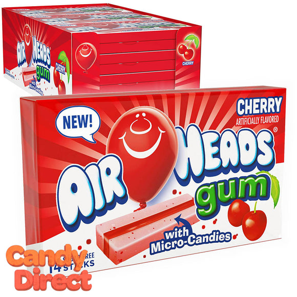 Airheads Gum Cherry 14-pc - 12ct