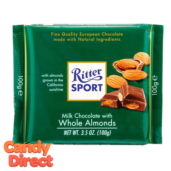 Almond Milk Chocolate Ritter Sport - 11ct