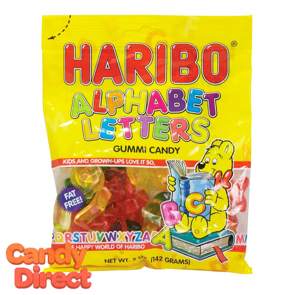 Alphabet Letters Haribo Gummi Candy 5oz Bag - 12ct
