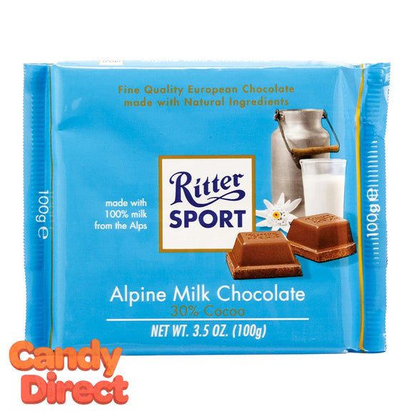 Alpine Milk Chocolate Ritter Sport - 12ct