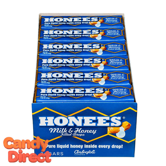 Ambrosoli Honees Bars Milk-N-Honey - 24ct