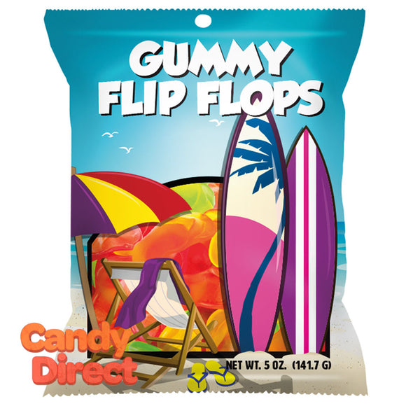 Amusemints Gummy Flip Flops 5oz Peg Bag - 12ct