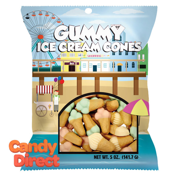 Amusemints Gummy Ice Cream Cones 5oz Peg Bag - 12ct