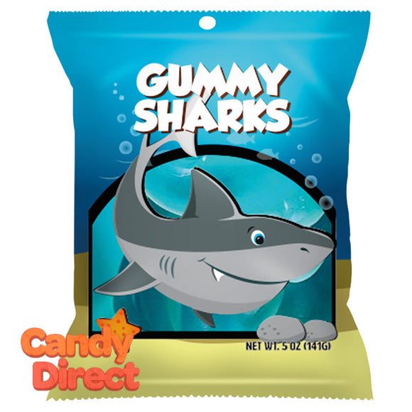 Amusemints Gummy Sharks 5oz Peg Bag - 12ct