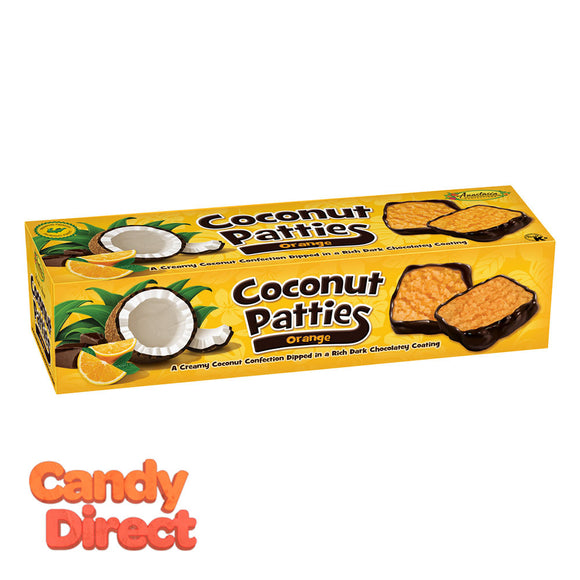 Anastasia Orange Coconut Patties 12oz Box - 12ct