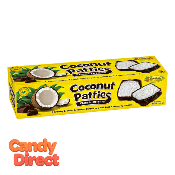 Anastasia Original Coconut Patties 12oz Box - 12ct
