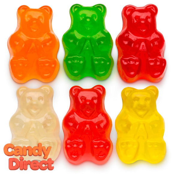 Assorted 6-Flavor Gummy Bears - 5lb