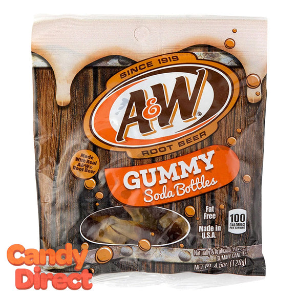 A&W Root Beer Gummy Soda Bottles - 6ct