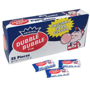 Dubble Bubble Gum Original 1928 - Movie-Size 24ct