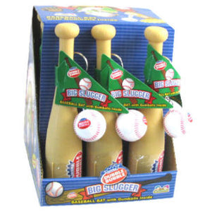 Big Slugger Bubble Gum Baseball Bats - 12ct Display Box