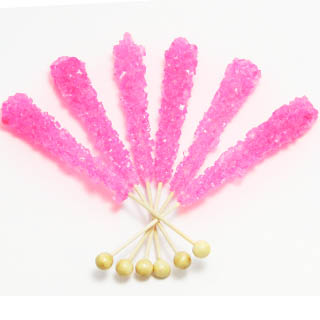 Bubble Gum Rock Candy Sticks - Unwrapped 120ct