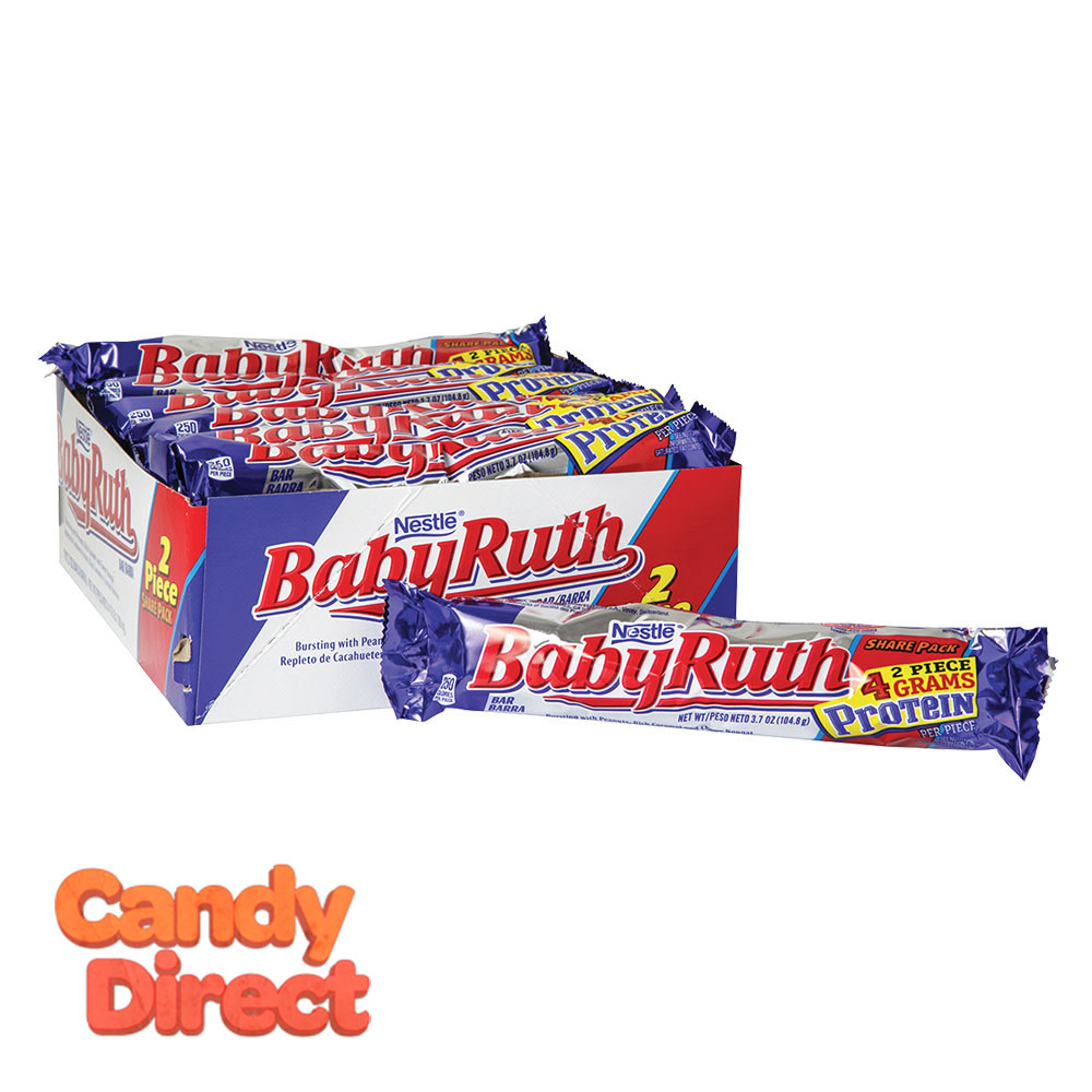 Baby Ruth Bars Share Pack 3.7oz - 18ct - CandyDirect