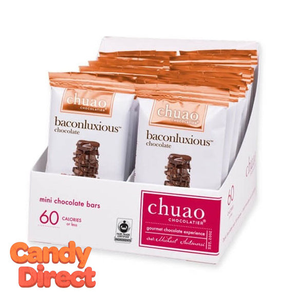 Baconluxious Chuao Milk Chocolate Mini Bars - 24ct