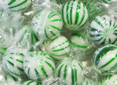 Jumbo Green & White Spearmint Balls - 120ct