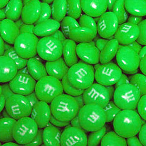 Green M&M's - Milk Chocolate 5lb