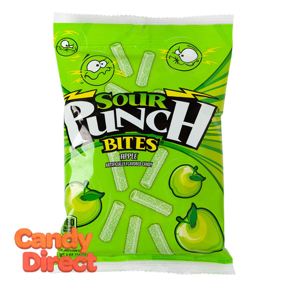 Sour Punch Bites Apple 5oz Peg Bag - 12ct