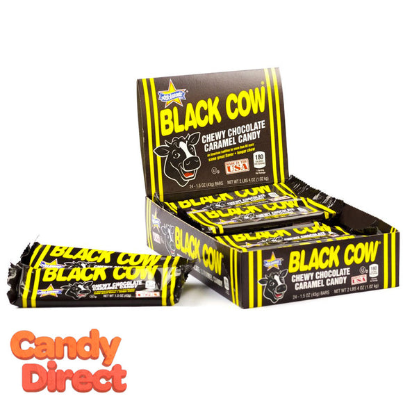 Black Cow Candy Bars - 24ct