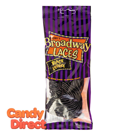 Black Licorice Broadway Laces 4oz Peg Bag - 12ct