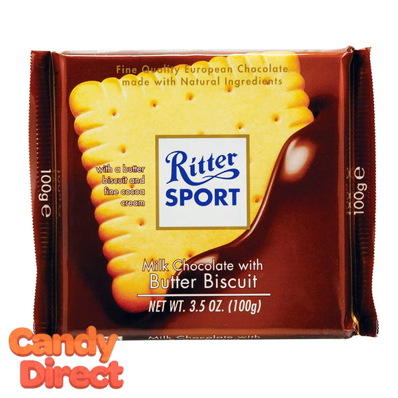 Butter Biscuit Ritter Sport Milk Chocolate - 11ct