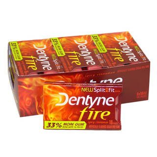 Dentyne Gum - Fire Spicy Cinnamon 9ct