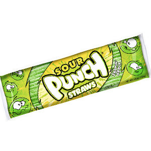 Sour Punch Straws King Size - Apple 24ct
