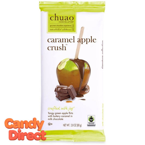 Caramel Apple Crush Chuao Milk Chocolate Bars - 12ct