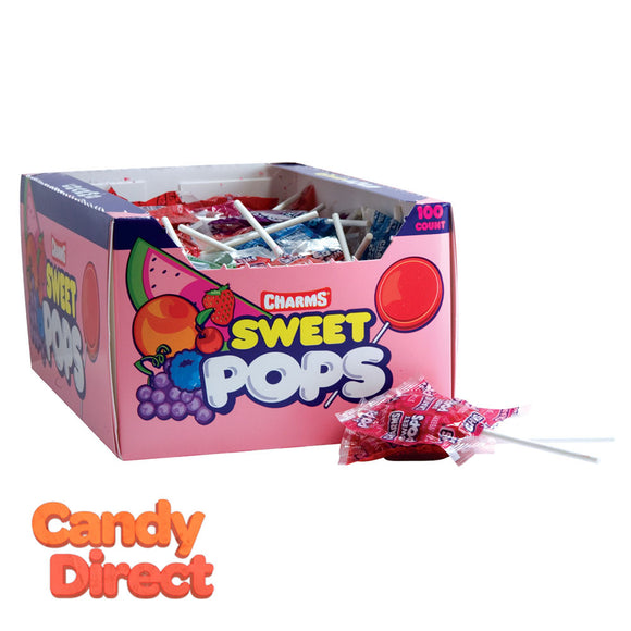 Charms Pops Sweet - 100ct
