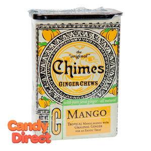 Chimes Ginger Chews Mango 2oz Tin - 20ct