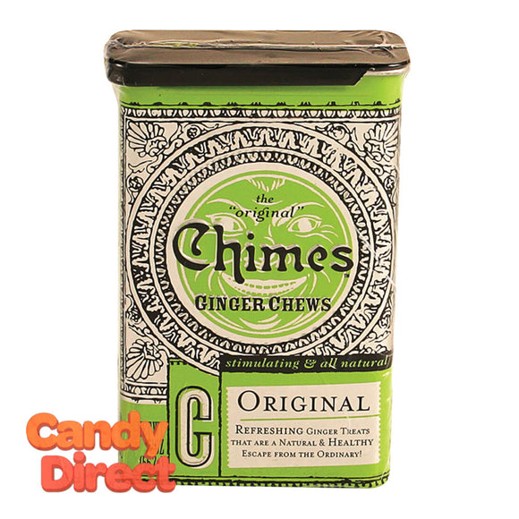 Chimes Ginger Chews Original 2oz Tin - 20ct