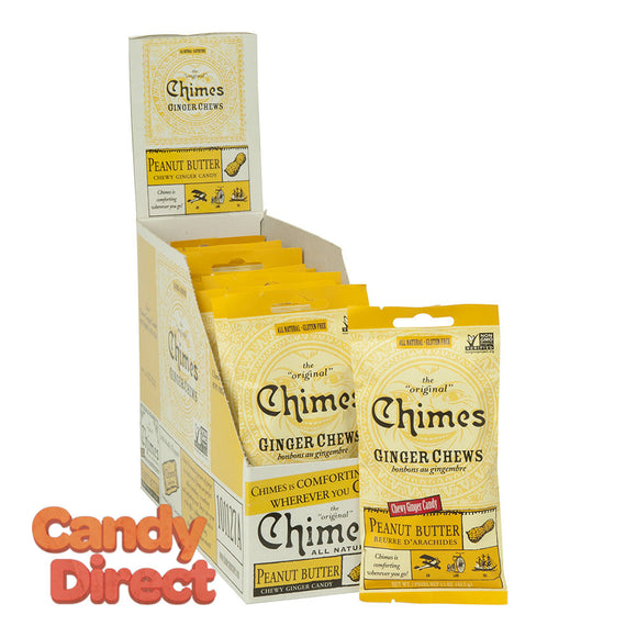 Chimes Ginger Chews Peanut Butter 1.5oz Bag - 12ct