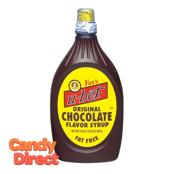 Chocolate Flavor Fox's U-Bet Syrup 22oz Squeeze Bottle - 12ct