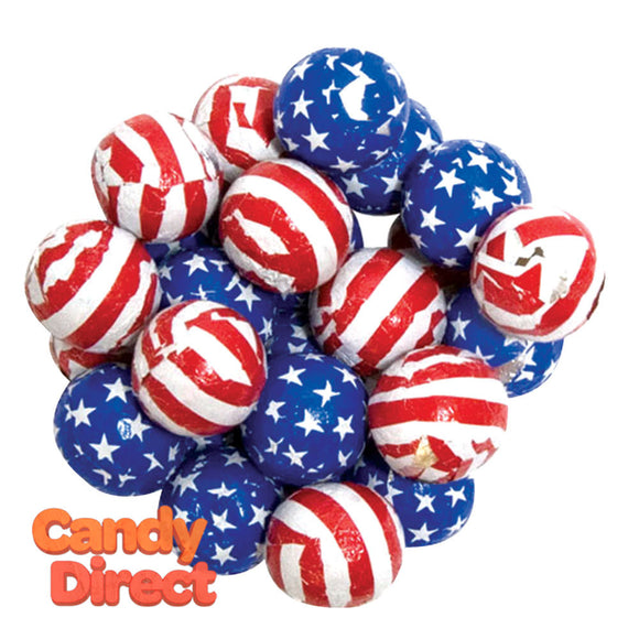 Stars & Stripes Chocolate Balls - 5lb Bag