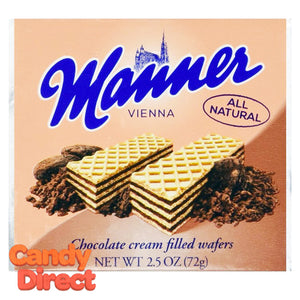 Chocolate Manner Cream-Filled Wafers - 12ct
