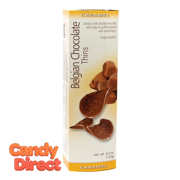 Chocolate Thins Caramel Belgian 4.4oz - 12ct