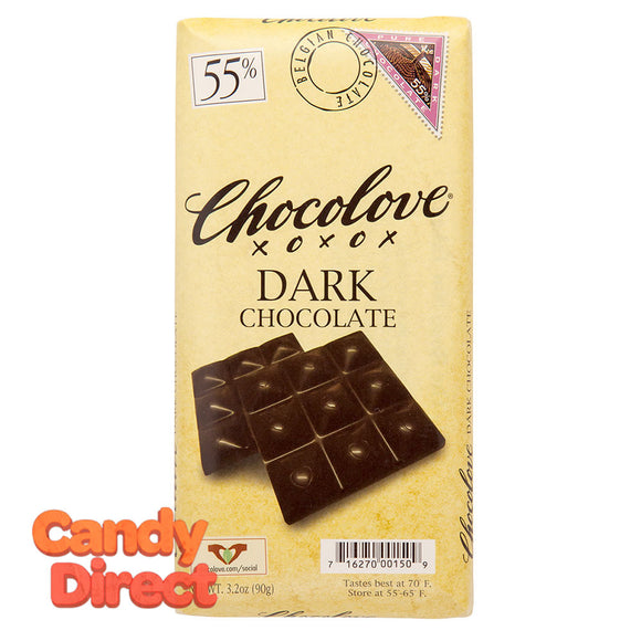 Chocolove 55% Dark Chocolate 3.2oz Bar - 12ct
