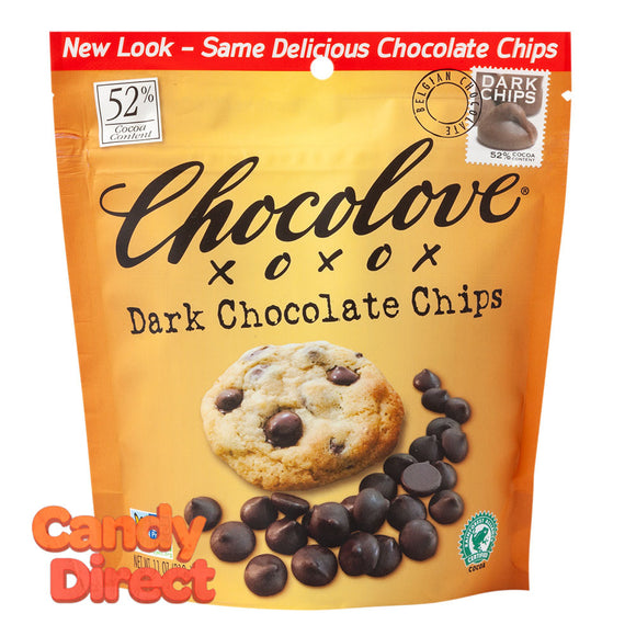 Chocolove Dark Chocolate Baking Chips 11oz Pouch - 8ct