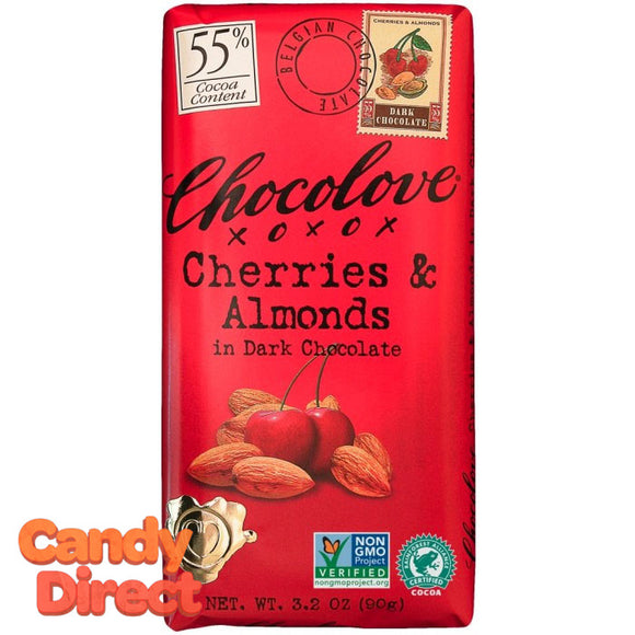 Chocolove Dark Chocolate Cherry & Almond Bars - 12ct
