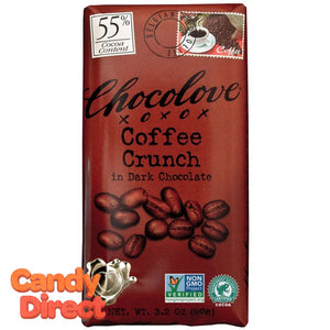 Chocolove Dark Chocolate Coffee Crunch Bars - 12ct