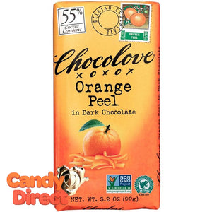 Chocolove Dark Chocolate Orange Peel Bars - 12ct