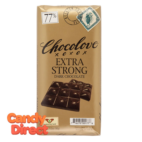 Chocolove Extra Strong Dark Chocolate 3.2oz Bar - 12ct