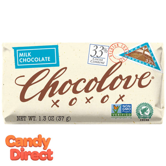 Chocolove Milk Chocolate Mini Bars - 12ct