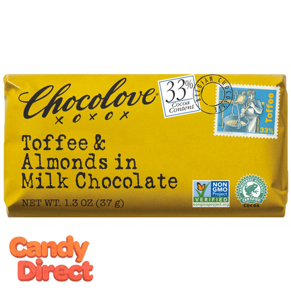 Chocolove Milk Chocolate Toffee and Almond Mini Bars - 12ct