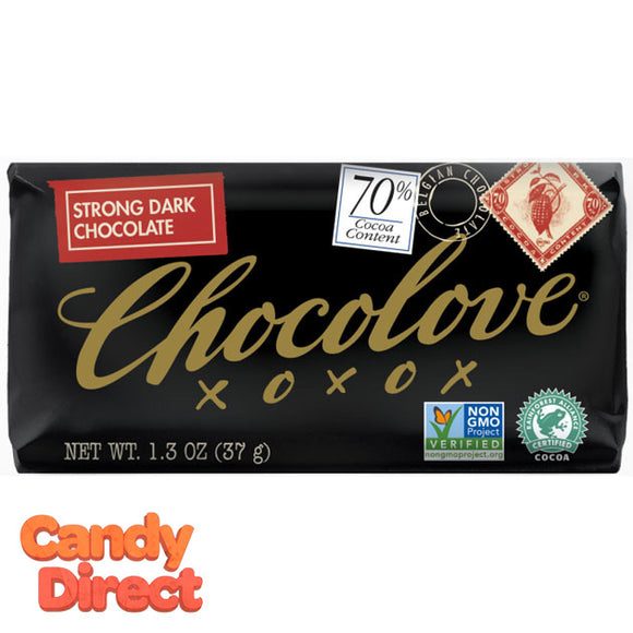 Chocolove Strong Dark Chocolate 70% Mini Bars - 12ct