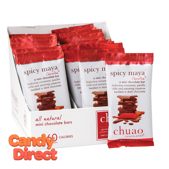 Chuao Spicy Maya Mini Dark Chocolate 0.39oz Bar - 24ct