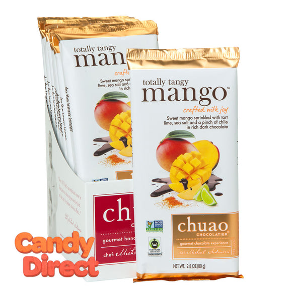 Chuao Totally Tangy Mango Dark Chocolate 2.8oz Bar - 12ct