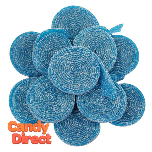 Clever Candy Berry Blue Sour Rolled Belts - 6.6lbs