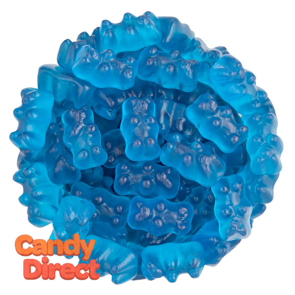 Clever Candy Boppin Blue Raspberry Flavored Gummy Bears - 6.6lbs