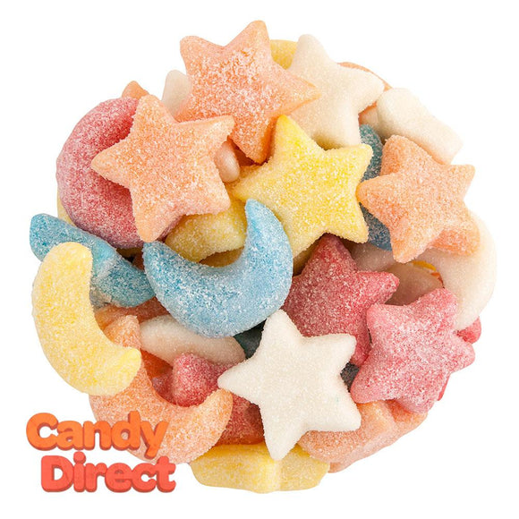 Gummy Glitter Sour Stars And Moons - 6.6lb